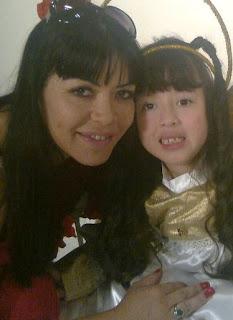Teresa Espinoza y su hija