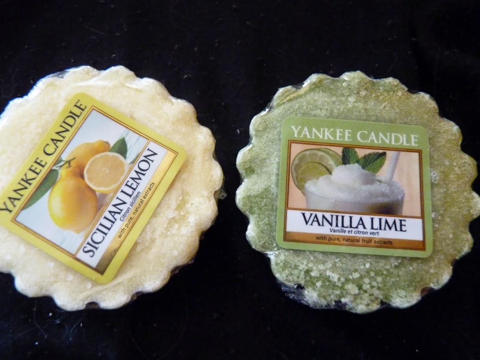 tartelettes, yankee cnadle, bougies parfumées, sicilian lemon, citron sicilien, vanilla lime, vanille citron vert