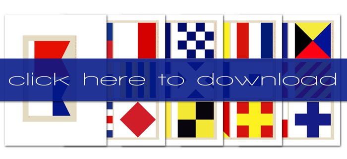 free printable maritime flags complete set of a z international maritime signal flags instant download