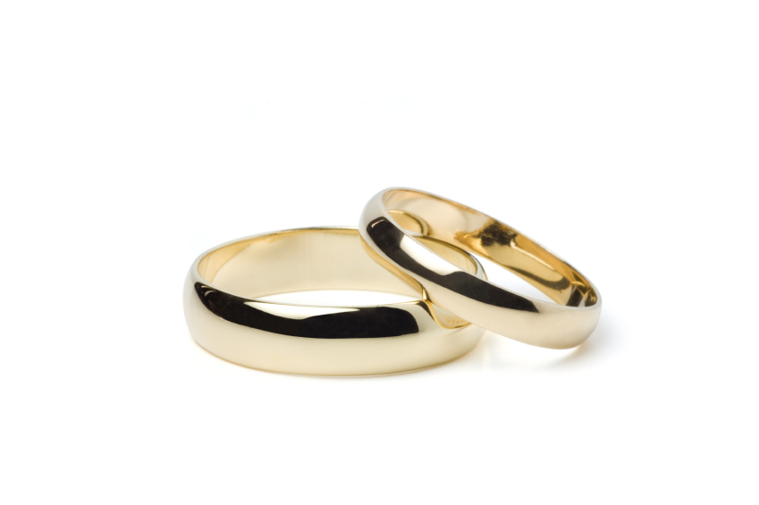 Wedding bands are smooth simple circles signifying eternity and are