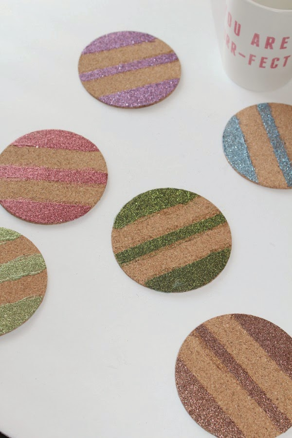 Glittery Coasters Craft