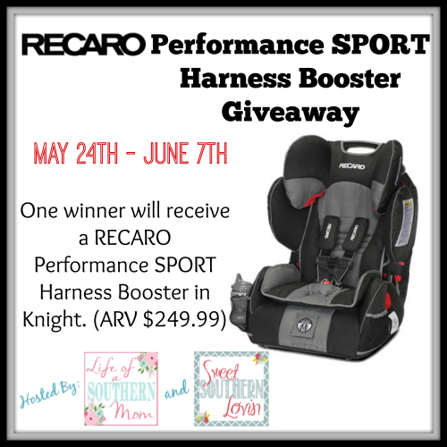 RECARO Performance SPORT Harness Booster Giveaway