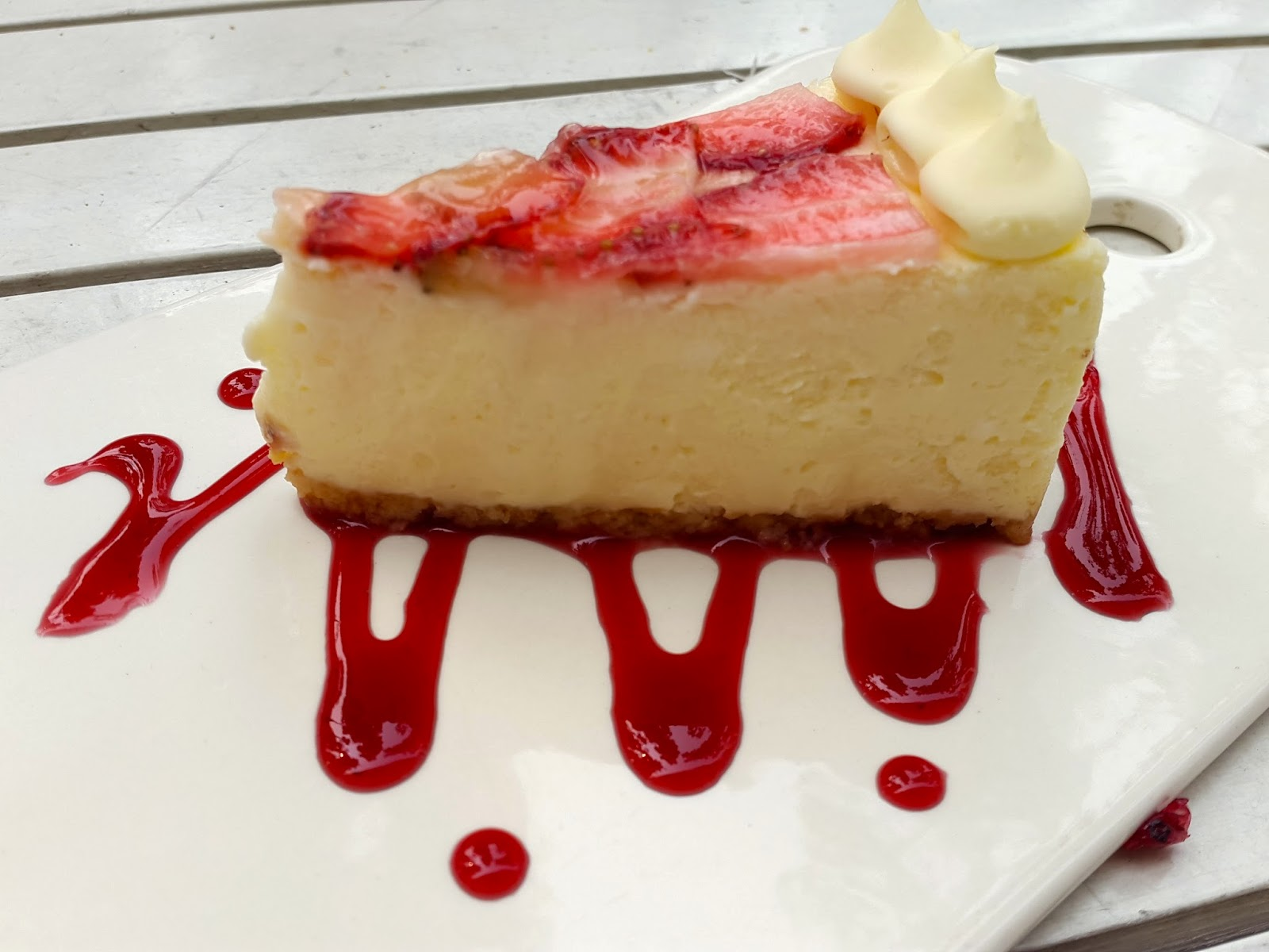 Strawberry Cheesecake at Symmetry Cafe Singapore