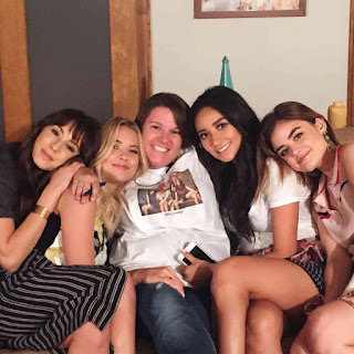 PLL 6x19 BTS Troian Bellisario, Ashley Benson, Lisa H, Shay Mitchell and Lucy Hale