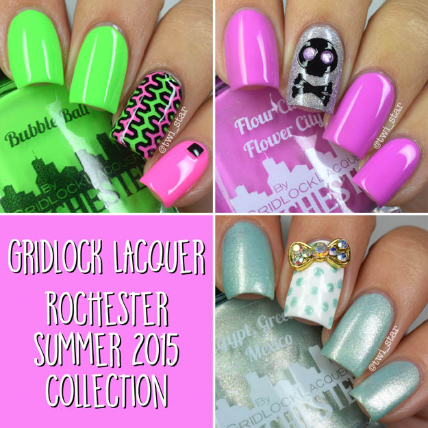 Gridlock Lacquer Rochester NY Summer 2015 swatches