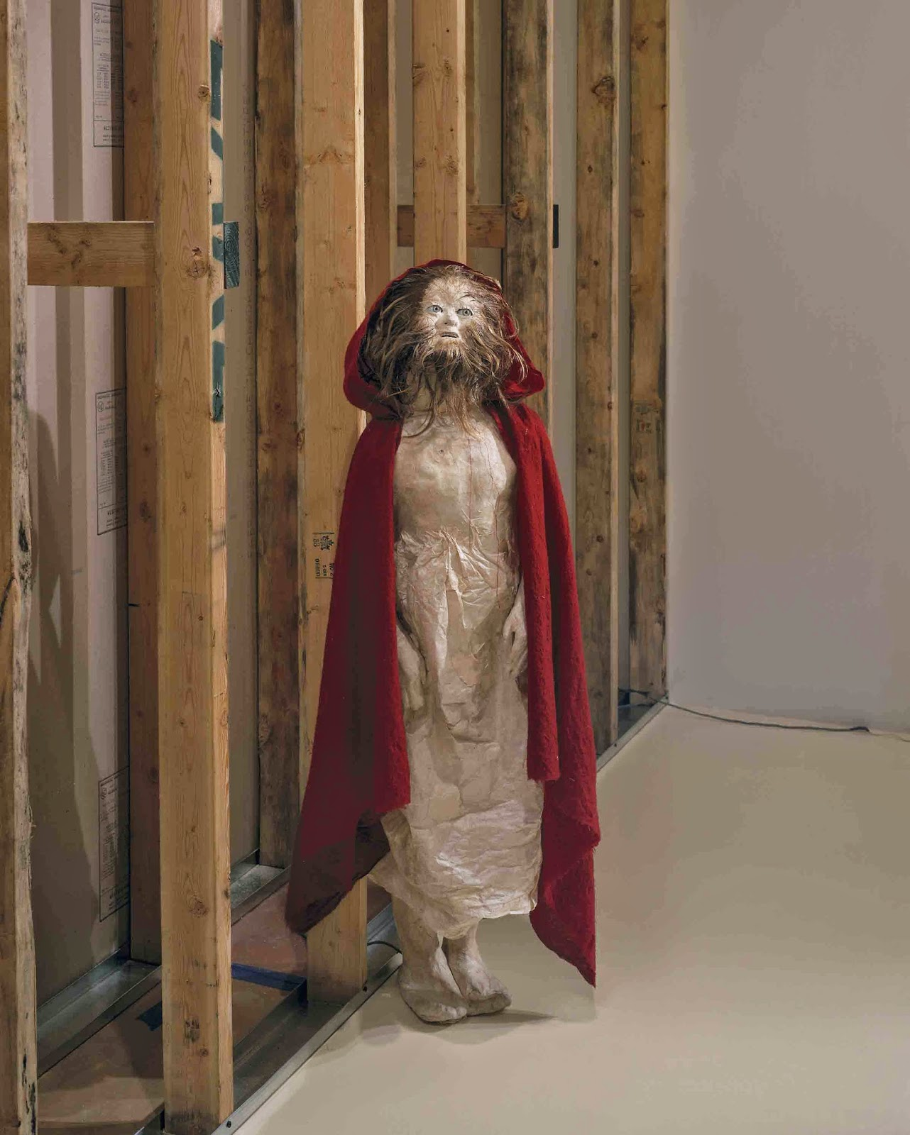 once upon a blog visualising little red riding hood a paper kiki smith daughter 1999