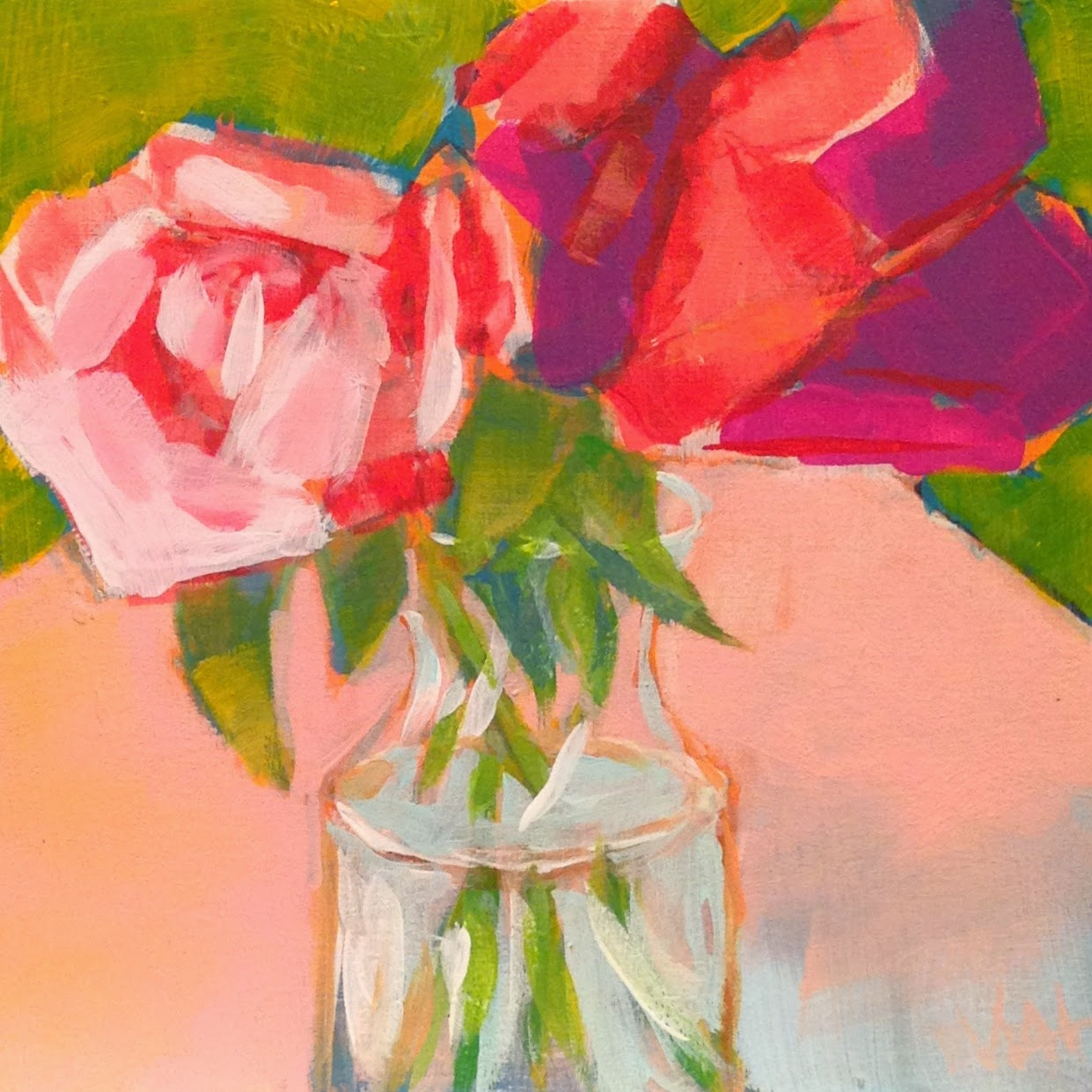 floral art, roses, painting, art for sale