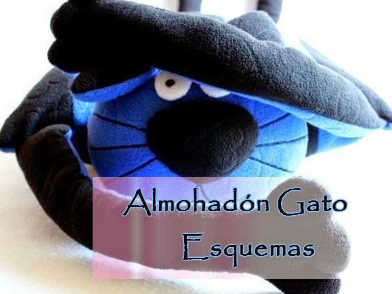Ideas para el hogar: Patrón de diseño almohadón Gato