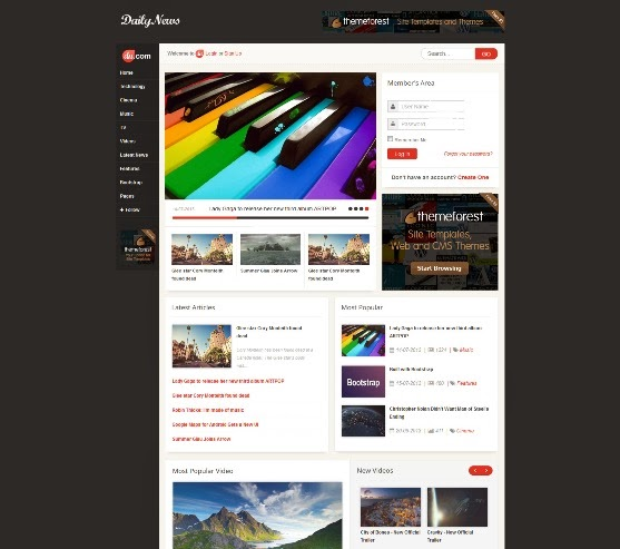 Daily News Responsive Joomla Template