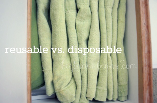 reusable green cloth napkins, disposable