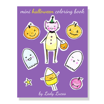 Mini Halloween Coloring Book