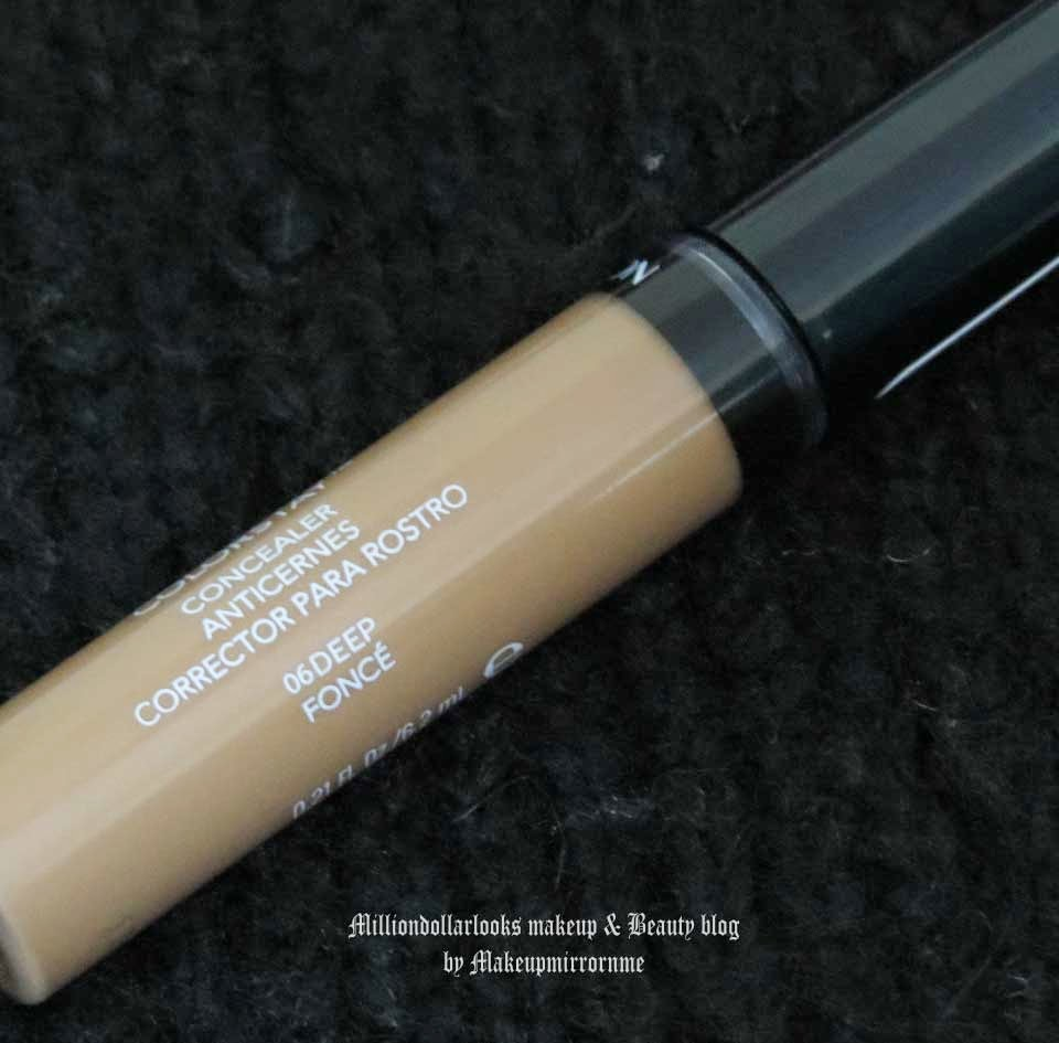 Revlon Colorstay Concealer 06 Deep Fonce Review, Pictures and Swatch, Concealers for covering dark circles, Indian makeup and beauty blog, Indian makeup blog, Best concealers available in India, Best drugstore concealers available in India, Revlon makeup review, Revlon concealer review, Concealer review, Revlon colorstay makeup range review, Indian makeup bloggers, Top indian makeup blogs, Milliondollarlooks makeup and beauty blog, Beauty bloggers in India, Concealer for dark skin tones.
