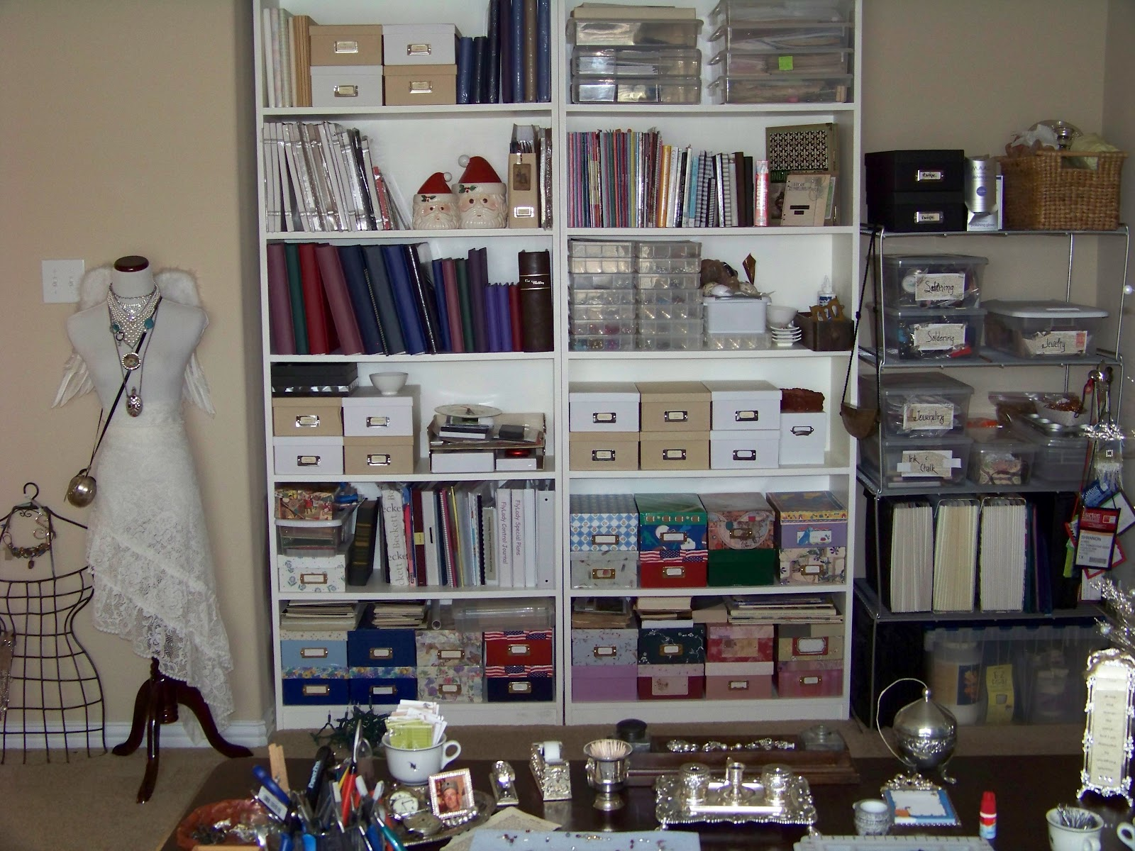 This is the storage I have in this space. My studio in KS had a full