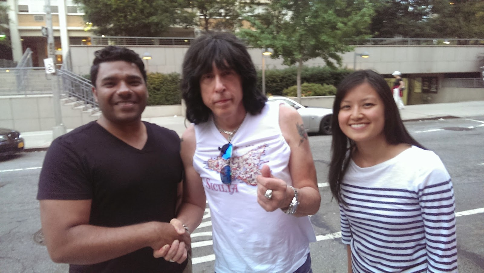 Marky Ramone dines at Sociale