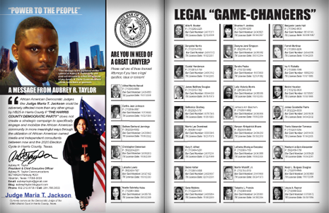 "PAGES 14 AND 15 - HOUSTON BUSINESS CONNECTIONS MAGAZINE© ""STRATEGIC VOTER"" MOBILIZATION CAMPAIGN"