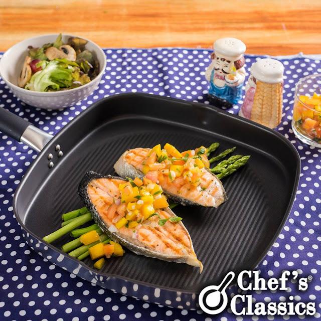 Grilled Salmon with Mango-Tomato Salsa Recipe