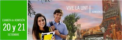 Grupo B Letras y Grupo A Ciencias Examen de Admision UNITRU 2015-1 21-09-2014