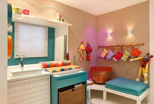DECORANDO O BANHEIRO DAS CRIANÇAS  Papo de Design # Decoracao De Banheiro Infantil Com Eva