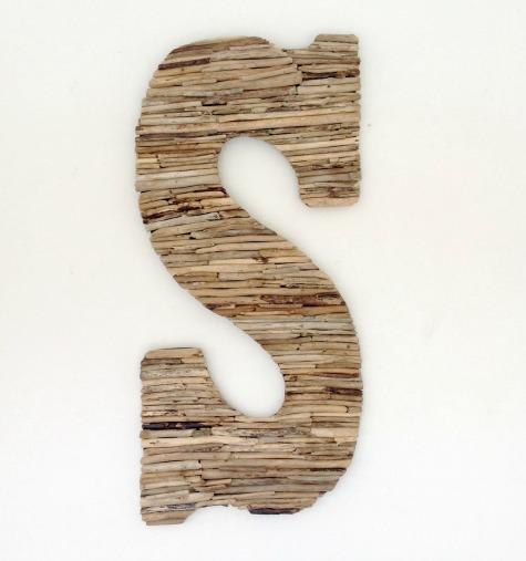 Handmade Driftwood Letters