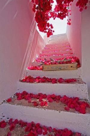 stairs design in Santorini, Greece