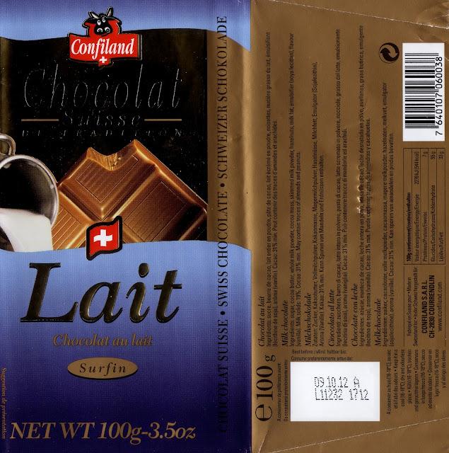 tablette de chocolat lait dégustation confiland lait