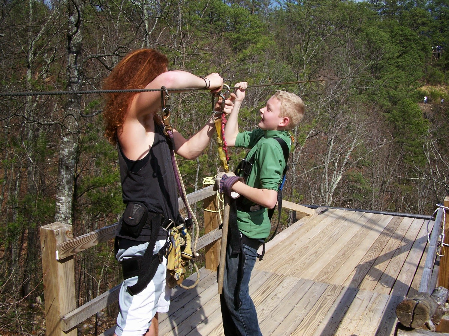 Zipline attraction near Gatlinburg
