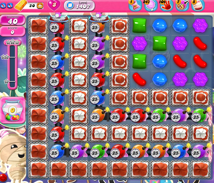 Candy Crush Saga 1407