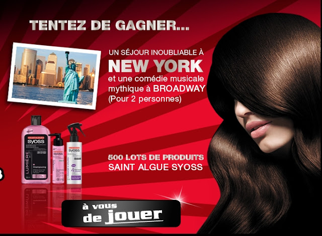 500 lots de 3 produits Saint Algue Syoss + 1 voyage à New York