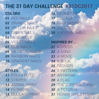 The 31 Day Nail Art Challenge 2017