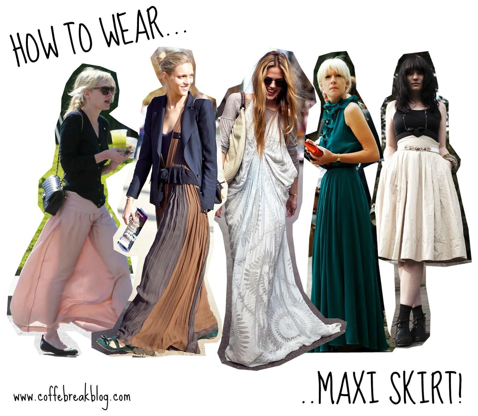 coffe break lifestyle blog how to wear maxi skirt