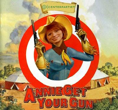 Annie Johansson, Centerpartiet: Annie Get Your Gun!