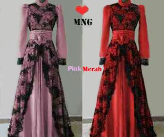 Amelia Maxi Dress - Restock Warna Pink dan Merah