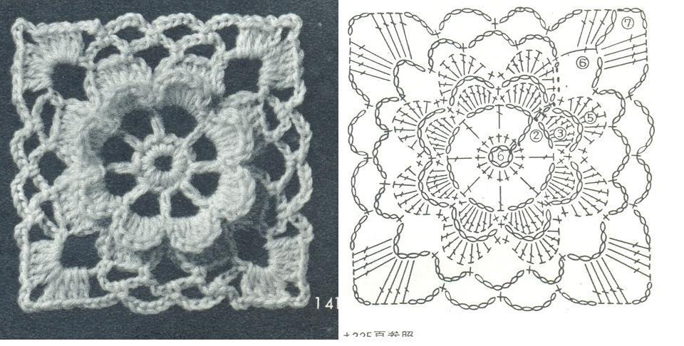 Feliz primavera - Piastrelle di lana all uncinetto ...