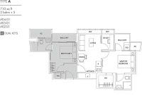 Cassia Edge 2+1 Floor Plans