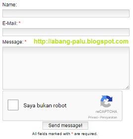 contact form di blog