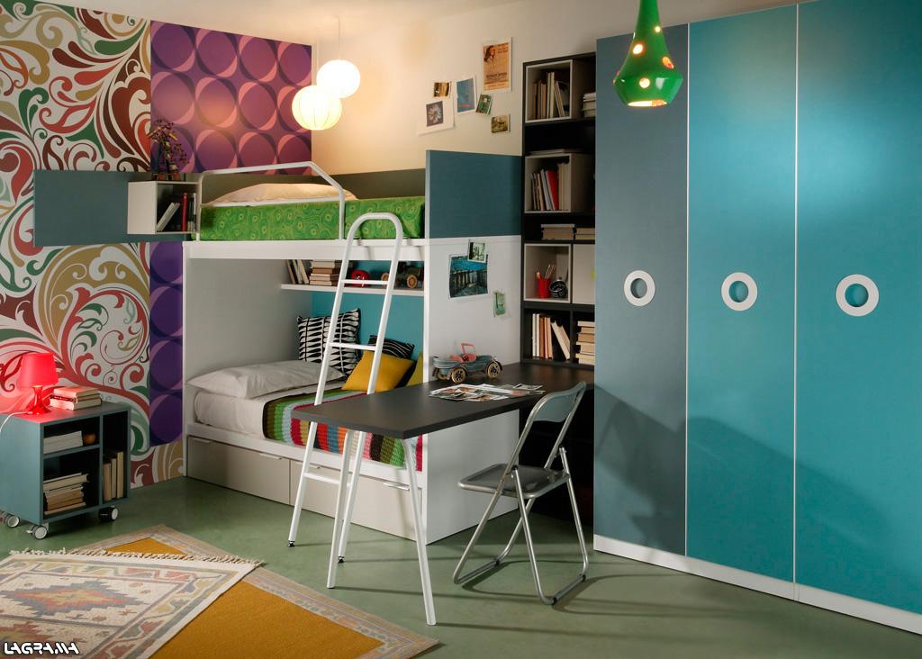 Habitaciones juveniles for Habitacion 3 camas