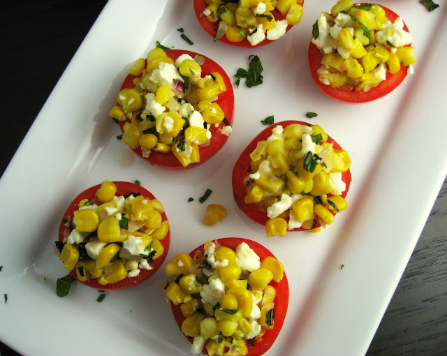 Robyn Cooks: Tomatoes Stuffed with Summer Corn Salad