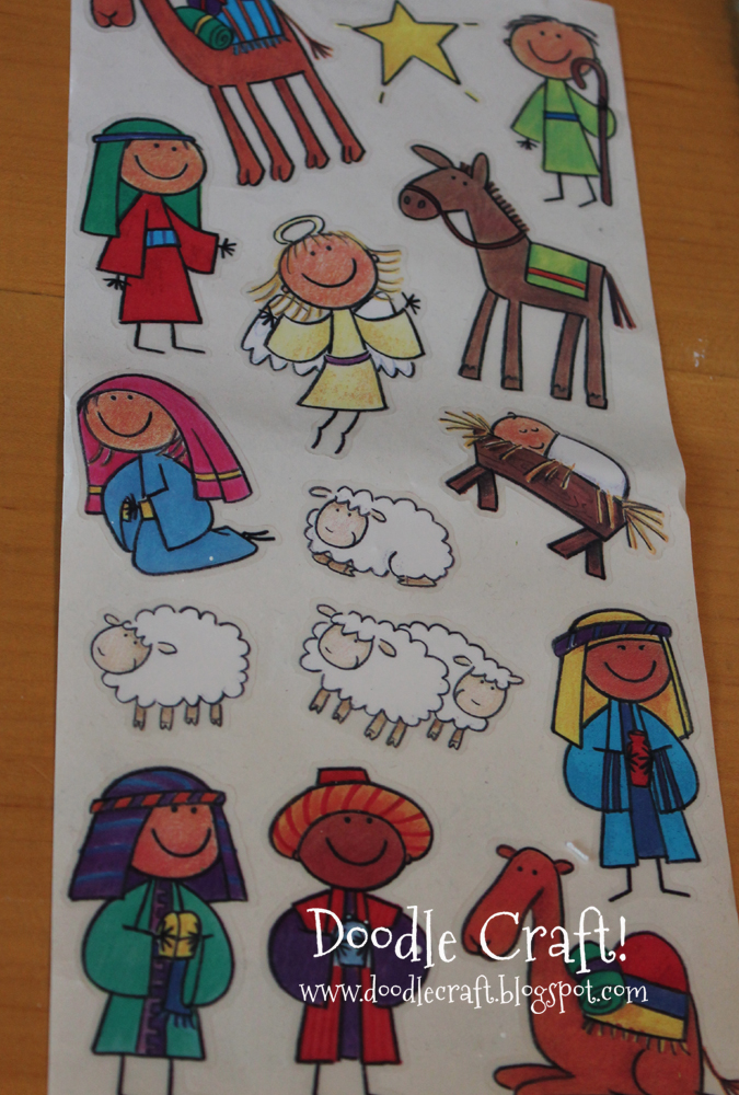 Nativity Set Stickers