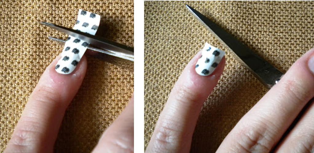 Cut Excess Nail Foil