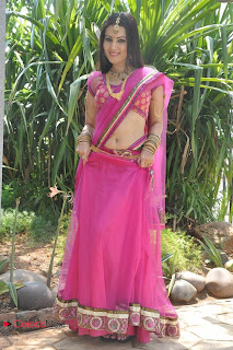 Anusmriti Latest Pictures in Saree at Heroine Movie Opening  0011.jpg