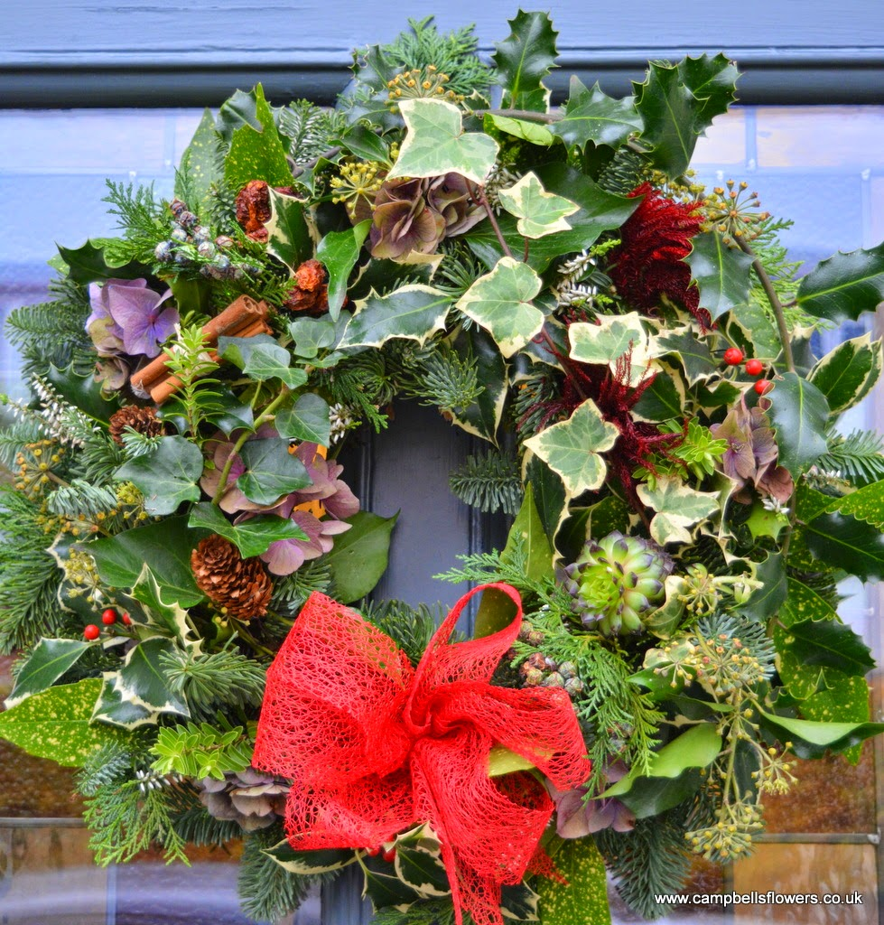 Traditional Christmas Wreath by Campbell's Flowers