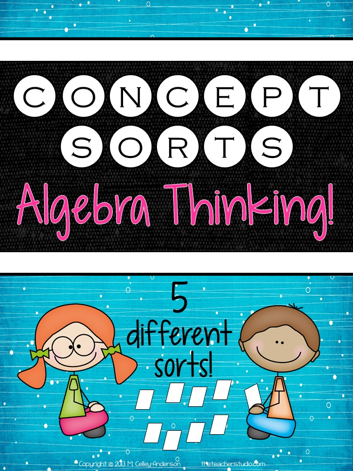It\'s a New Concept Sort! Algebra Thinking | The Teacher Studio ...
