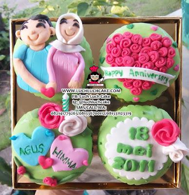 Cupcake 2D Fondant Romantis MURAH