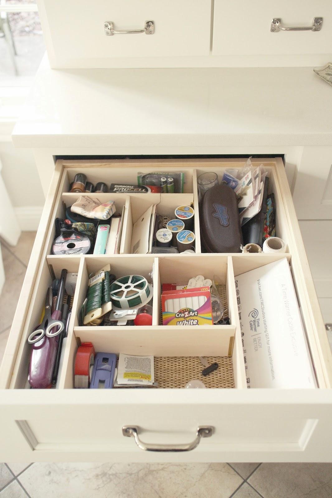 Custom junk corralling the impatient gardener for Kitchen junk drawer
