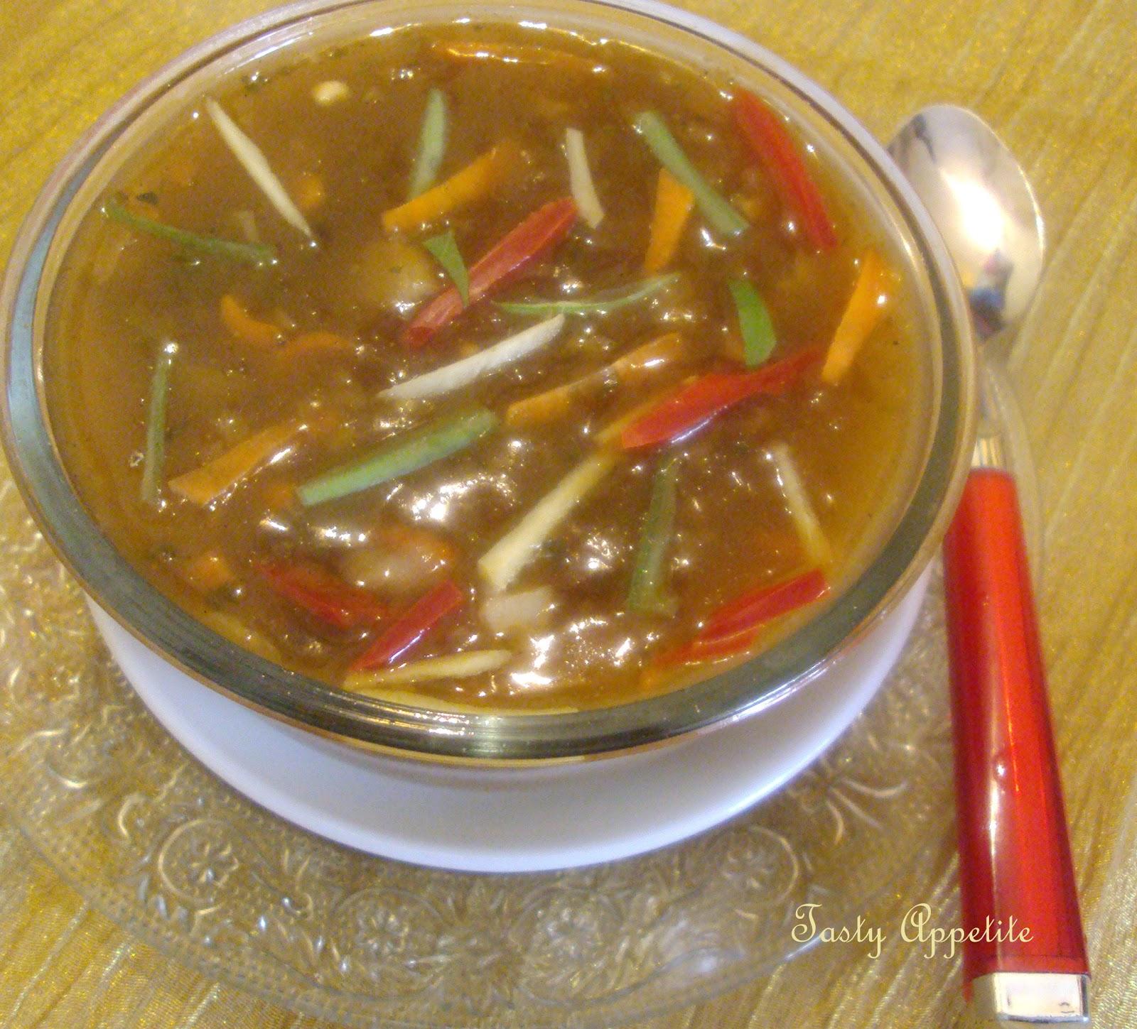 Tasty Appetite: Hot & Sour Tasty Veg Soup