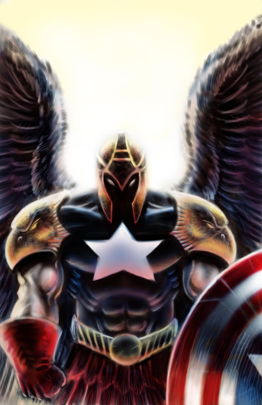 Captain America Angel por JMan-3H