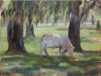 Grazing in the Grass Oil Painting