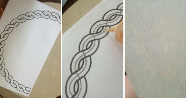 how to draw a rope border circle around placemats