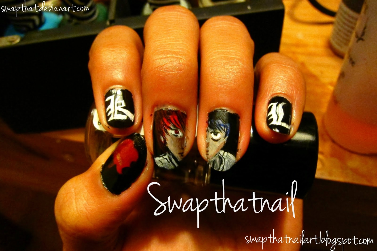 Death Note Nail Art | Swap That Nail