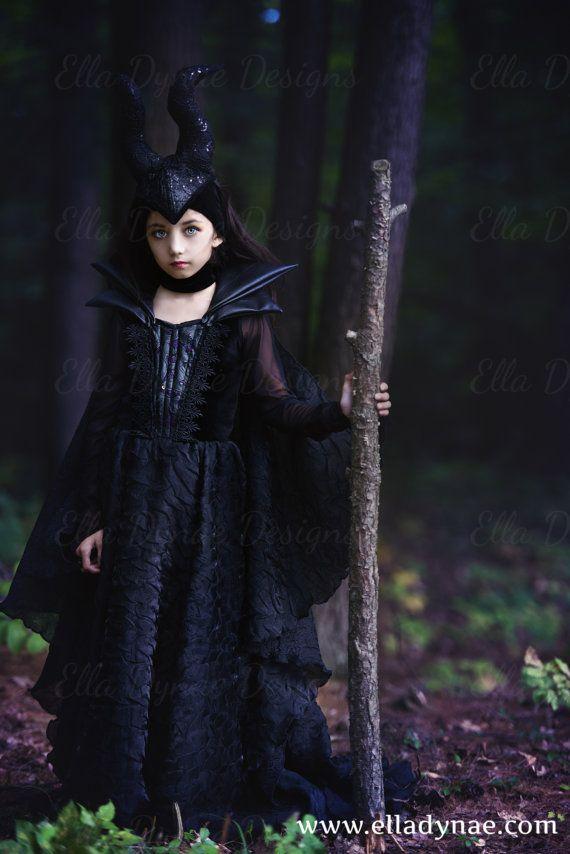 disfraz maléfica de lujo niña angelina jolie disney